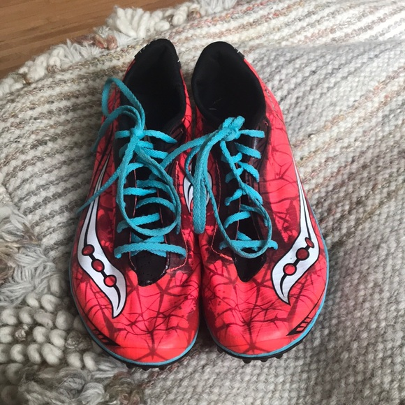 Saucony Shoes - Saucony Shay XC4 Coral Flexfilm Spike Track Shoes